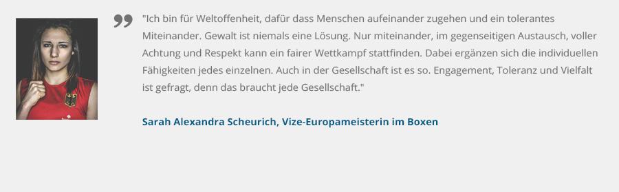 Sarah Alexandra Scheurich, Vize-Europameisterin im Boxen